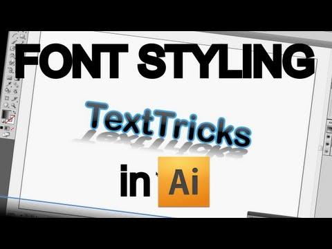 Font Styling in Adobe Illustrator