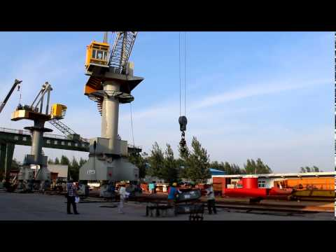Portal crane test with load capacity before delivery from KCRANE