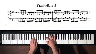 Bach Prelude and Fugue No.2 Well Tempered Clavier, Book 1 wi...
