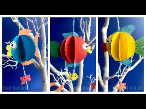 3d Paper Fish DIY-  How To Make A 3d Paper Fish Decoration Templates Incl