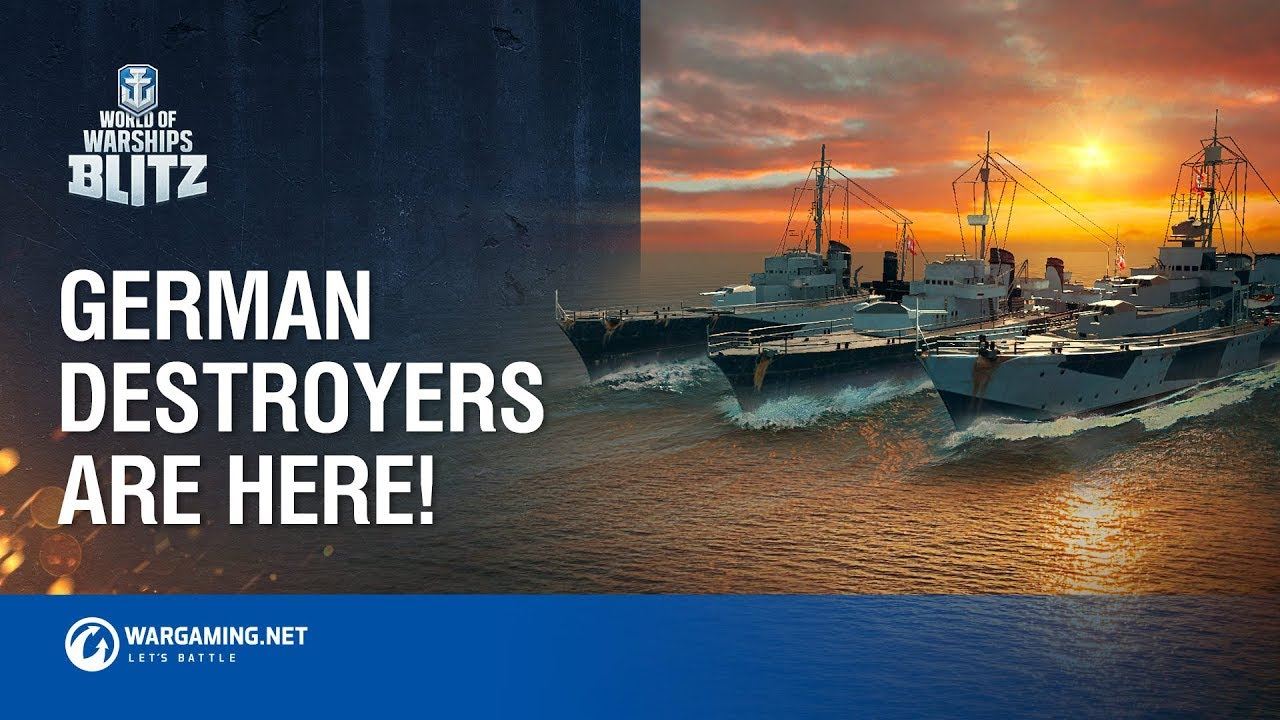 German Destroyers Sail into World of Warships Blitz