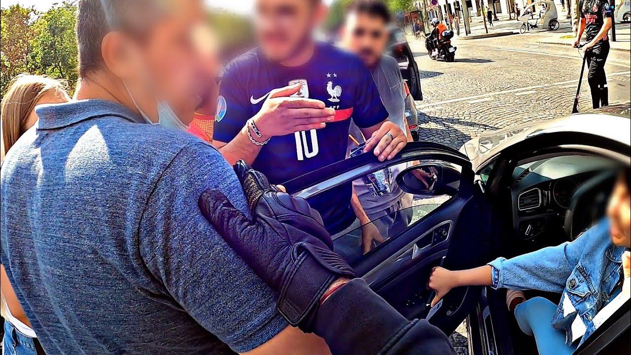 Arrestation et Embrouille sur les Champs Élysée