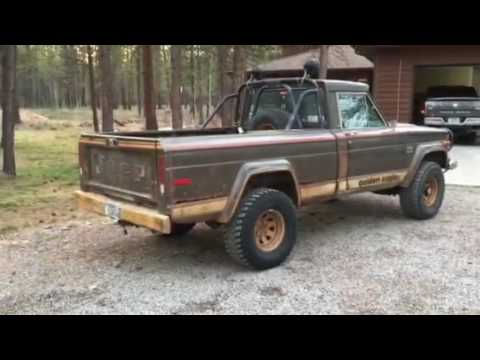 1977 jeep j10 golden eagle exhaust youtube