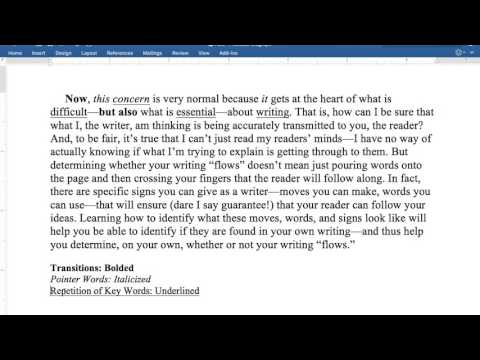 Writing Flow--How to write coherently