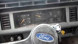 1987 Ford Dump Truck Cold Start