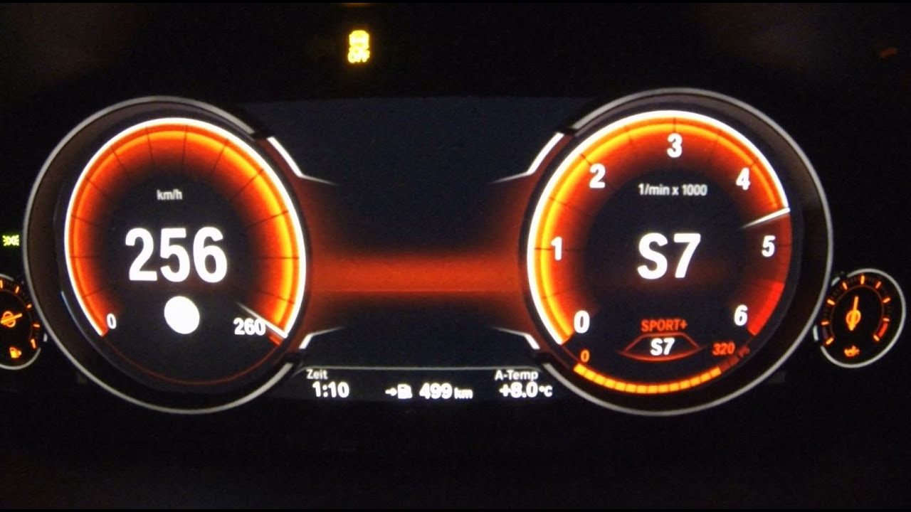 BMW 640d xDrive (313HP) 0-256 Km/h Launch Control Acceleration Top Speed