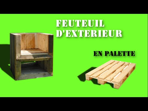 Fauteuil d 39 ext rieur en bois de palette youtube for Chaise en palette