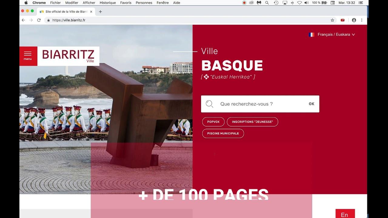 Vidéo Bienvenue sur Biarritz.fr