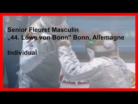 FIE World Cup Bonn - Men Foil Individual - Piste Red