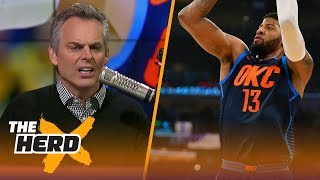 Colin Cowherd can't believe Russell Westbrook won't recruit to keep Paul George | THE HERD