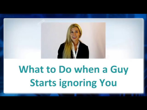 Find out What to Do when a Guy starts ignoring You