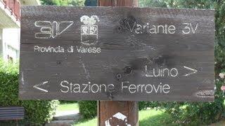 Walking tour, Maccagno-Luino. Lago Maggiore, Italy.