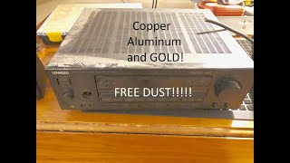 Scrapping a Stereo Receiver for Copper, Aluminum, and FREE GOLD!! -Moose Scrapper #277