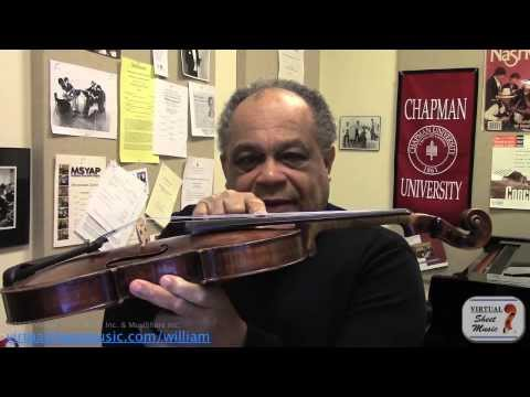 Learn natural and fingered harmonics on the violin - Sibelius Violin Concerto