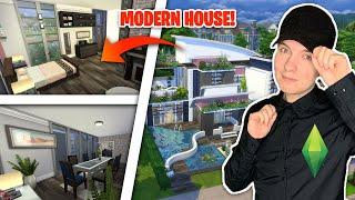 Mały MODERN HOUSE w centrum miasta   Ko$Cash w Sims 4
