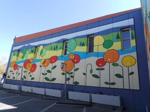 FirstBank - 'Lolli-poppies' Wall Mural - Old Town Fort Collins