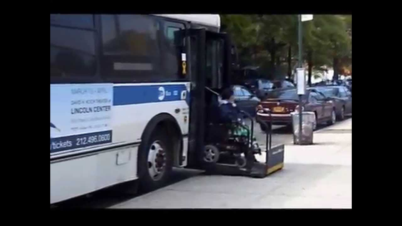 new york city bus wheelchair lift more videos on 66cats77 youtube