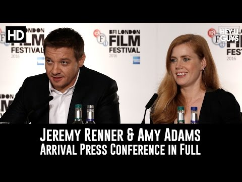 Arrival Press Conference in Full - Amy Adams & Jeremy Renner