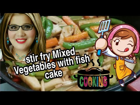 Stir fry Mixed vegetables with Fish Cake