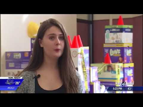 Mt. Spokane High School students collect diapers for families in need