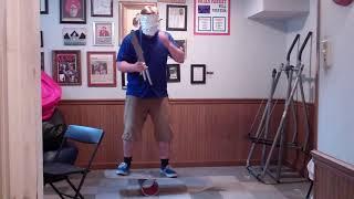 weird al foil parody vs juggler blindfolded skills