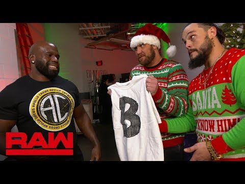 The B-Team tirelessly spread holiday cheer: Raw, Dec. 24, 2018