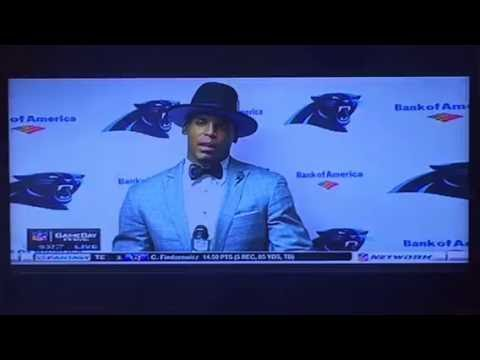 Cam Newton Gets Surly At Press Conference After Panthers Loss To Saints
