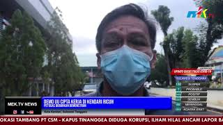 Demo UU Cipta Kerja di Kendari Ricuh, Petugas Bubarkan Demonstran
