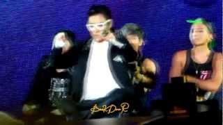 121005 Bigbang Alive tour Thailand Hands up Encore TOP focus [driving cars dance]