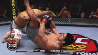 UFC Undisputed 2010 - Online Match 3 (Maia vs. Henderson) (Submission tips)
