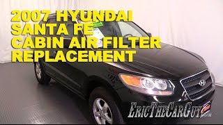 2006-2012 Hyundai Santa Fe Cabin Air Filter Replacement -Ericthecarguy