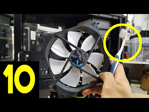 How To Clean Your Computer From Dust Without Compressed Air With An Old Toothbrush | Pt 10
