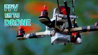 Cómo hacer un drone de carreras en casa | colocar el FPV