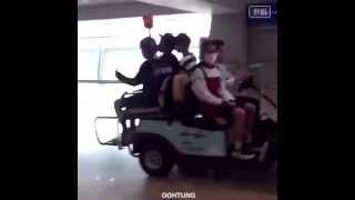 150619 Baozi + Beagle Line Riding A Mini-car(?) - Incheonairport Departing For Bangkok