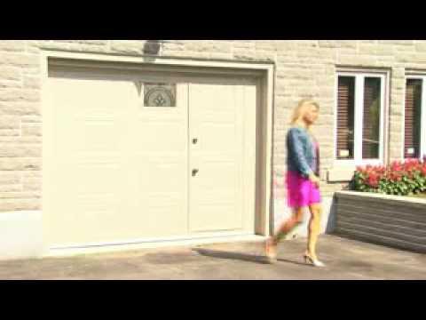 Porte de garage avec acces pour pieton youtube - Porte de garage 4m ...