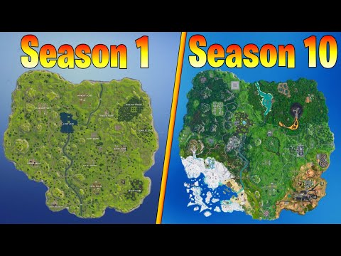 Evolution Of The Fortnite Map (Season 1 - Season 10)