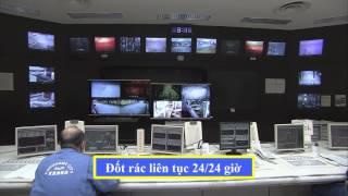 焼却工場見学ガイド⑧中央管制室(ベトナム語)