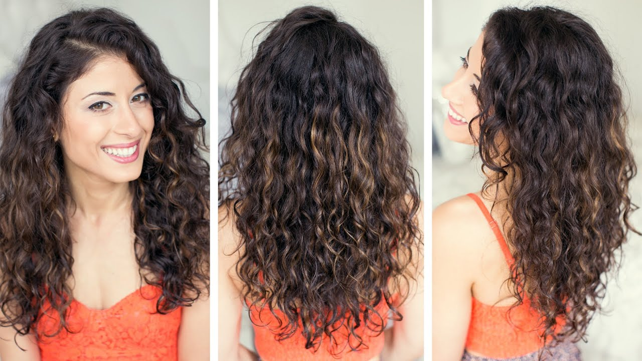 how to style curly hair - youtube