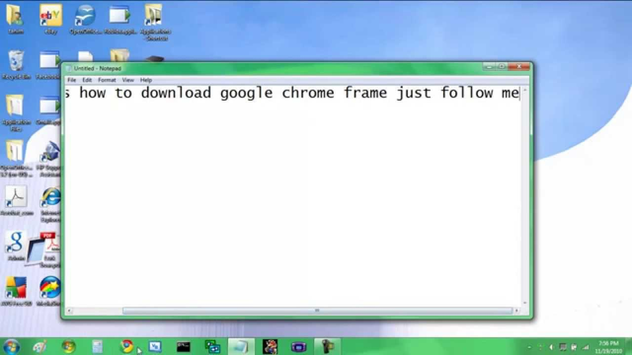 How to download google chrome frame - YouTube