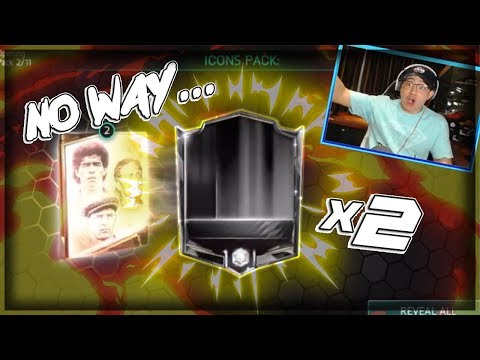 WE PULL AN ICON!! TWICE!! UNREAL ICON BUNDLE OPENING FIFA MOBILE 18 SO MANY ELITES TOO!!
