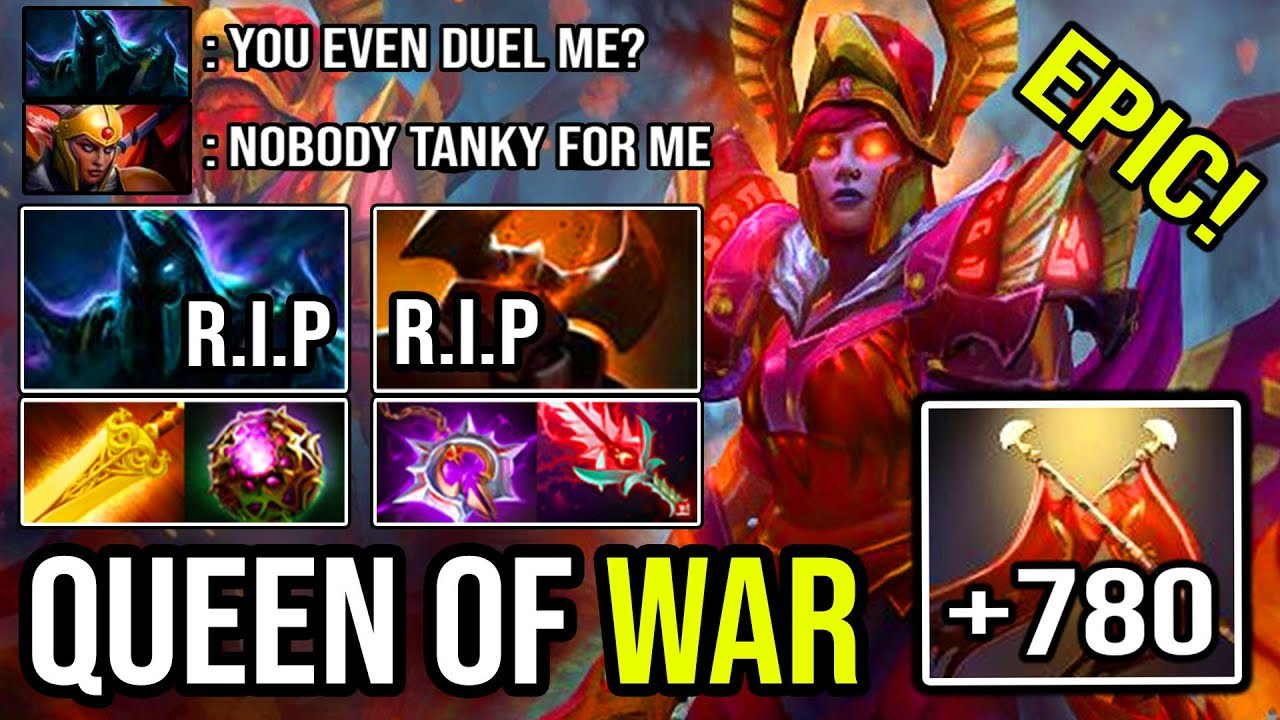 QUEEN OF WAR!!! + 780 Damage 30 Kills No Mercy Allowed Scepter Legion Commander DotA 2