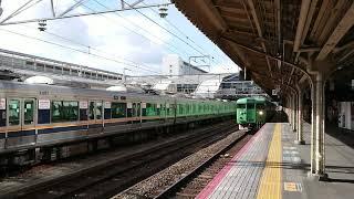 113系(湖西線普通列車4B)京都駅入線