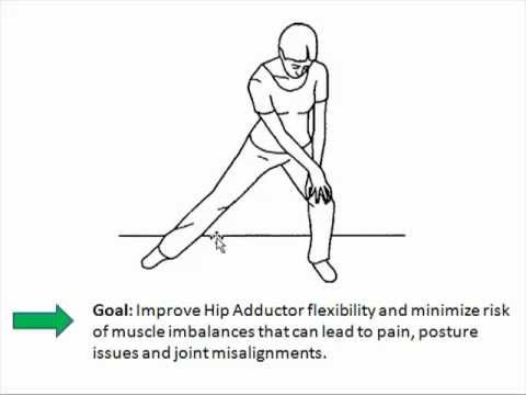 Low Back Pain Exercises - hip adductor stretch.mp4 - YouTube