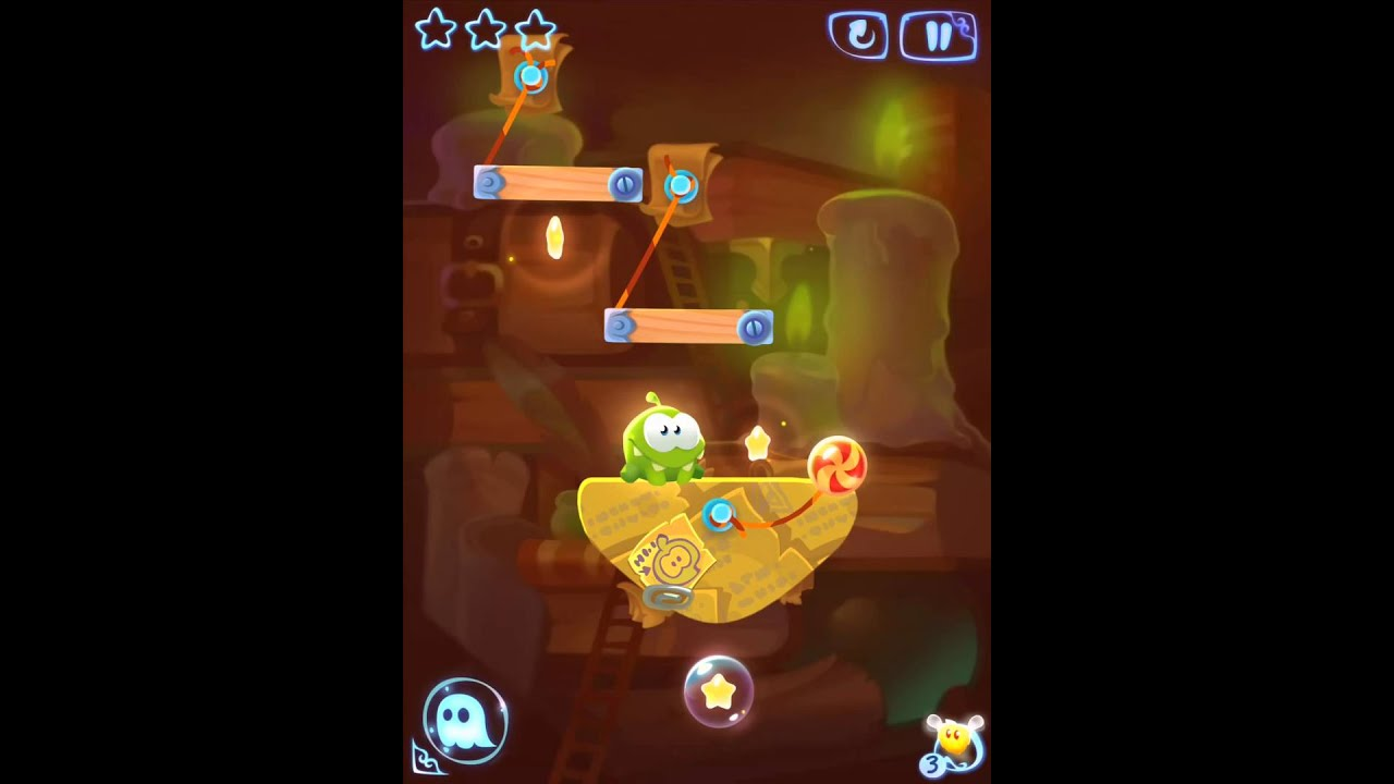 cut the rope magic ancient library level 5 2 3