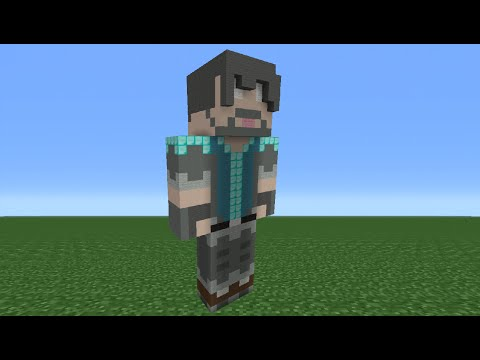 how to build a alex statue in minecraft