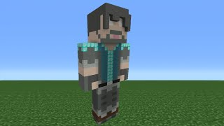 Minecraft Tutorial: How To Make A Thinknoodles Statue