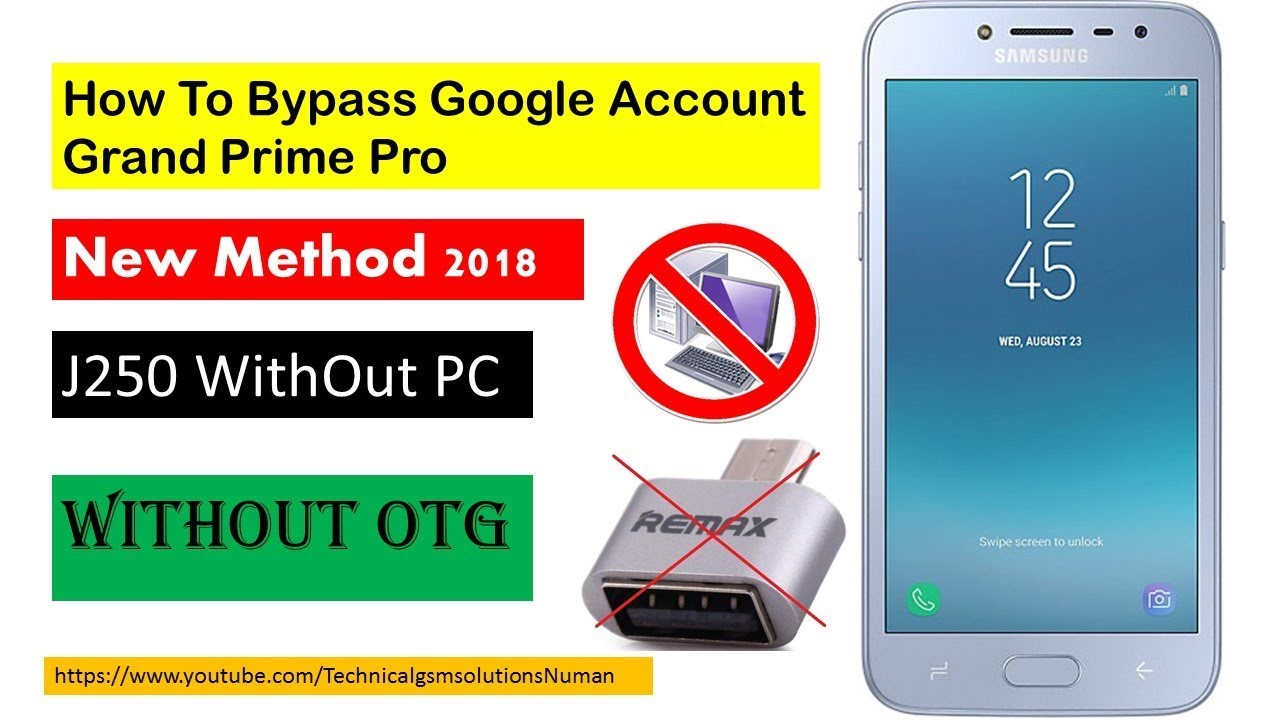 How To Bypass Google Account Grad Prime Pro (SM-J250F)7 0