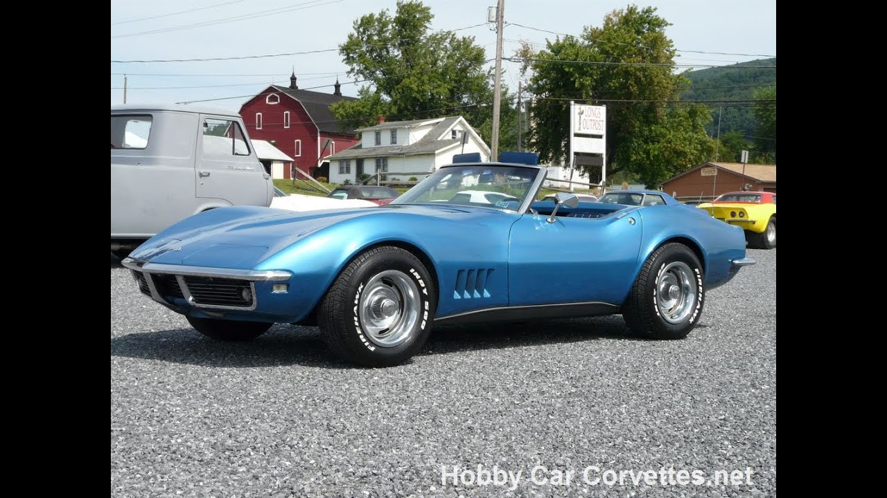 Corvette Stingray 1969 >> 1968 Blue Blue Corvette Convertible 4spd Numbers Matching For Sale - YouTube