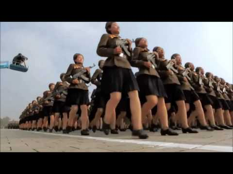 I put the frolic theme song over North Koreans marching.