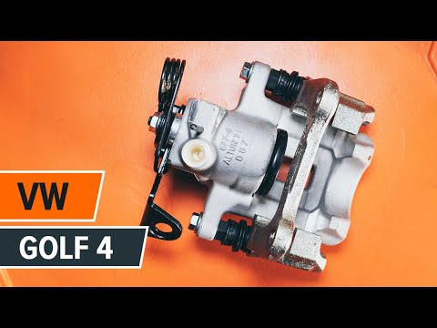 How to replace a rear brake caliper on VW GOLF 4 TUTORIAL   AUTODOC